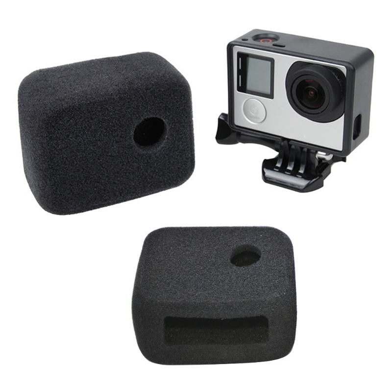 Sponge Windshield Cover Frame For Gopro Hero 4 3 Windslayer Foam Windscreen Wind Cap For Go Pro Hero4 Action Camera Accessories image