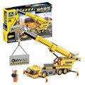Kazi 8045 380 unids ciudad construcción grúa del coche de ingeniería conjunto de bloques de construcción de ladrillo juguetes para niños city playmobil regalo de navidad