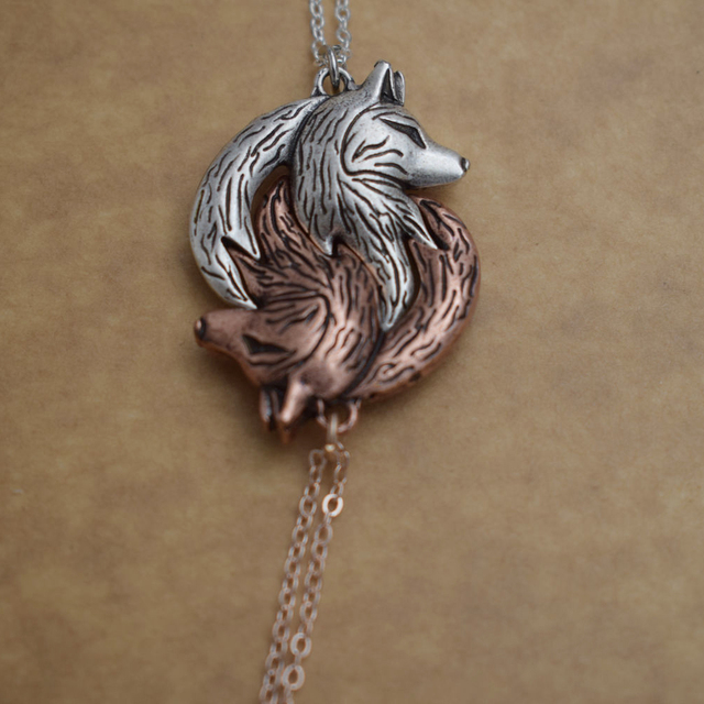 Yin Yang Wolf Necklace For Couples (2 necklaces) 3