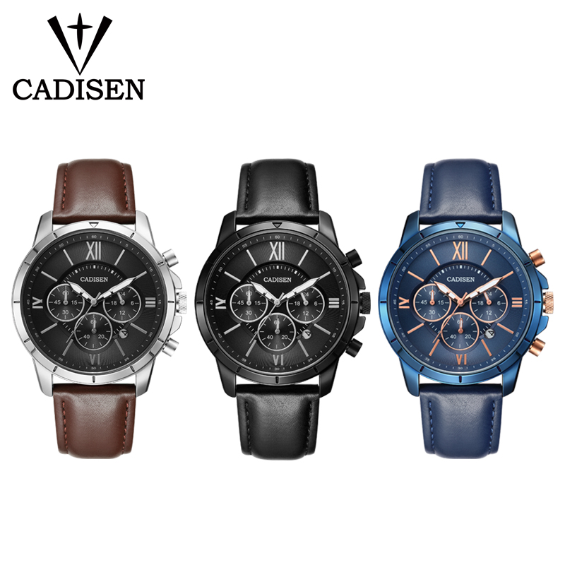 Herreure CADISEN Top Hot Fashion Sport Mærke Luksus Quartz Watch - Mænds ure - Foto 5