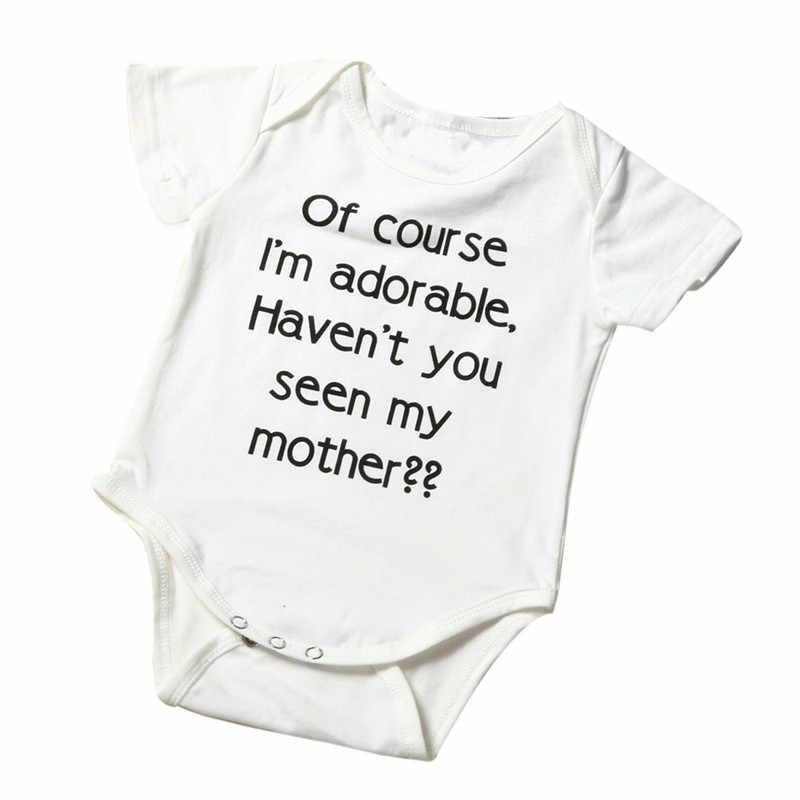 TELOTUNY 2018 moda recién nacido Niño pequeño bebé niña carta mono ropa 0712
