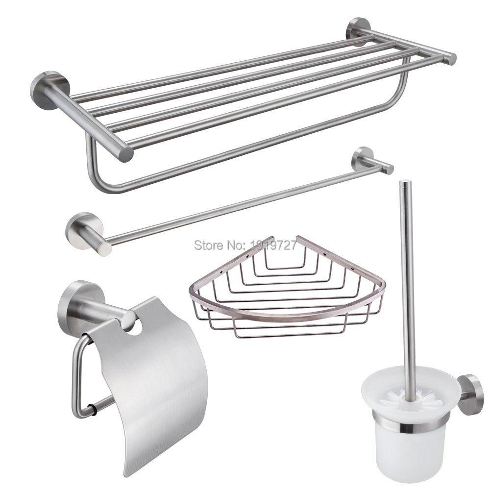 Bathroom Accessory kit Chrome bathroom with diamond towel shelf ...