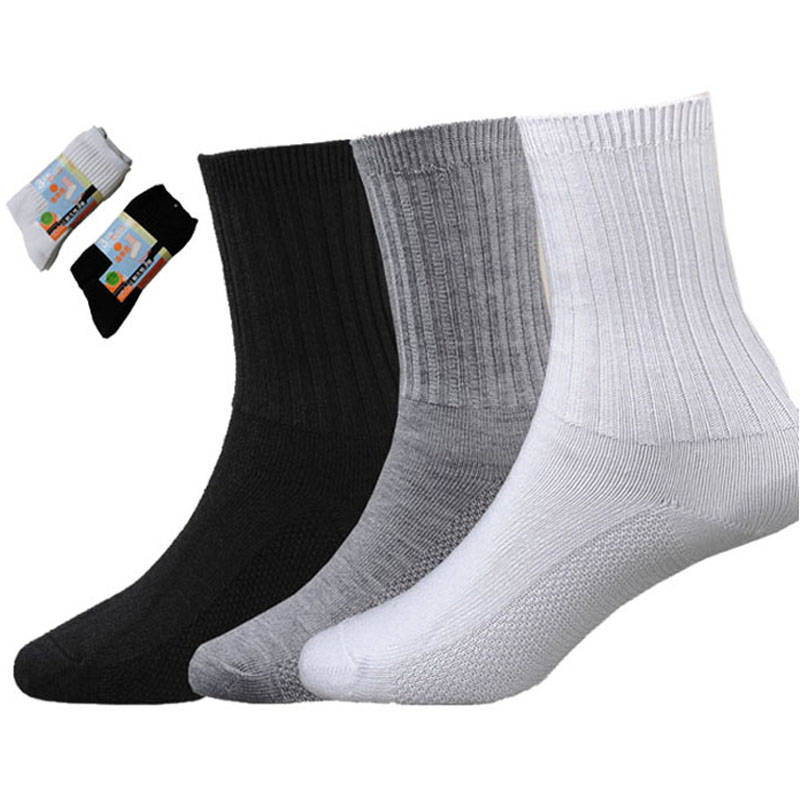 3pairs / lot Barn Sockor Boys Girls School Sport Strumpor Student Bomull Anti-lukt Slitstarka Athletic Running Strumpor 2-16 år