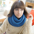 2017 Winter Lic Women Scarf Knitting Colour Thick Wool Collar Shawl Neck Warm Wrap High Quality Fashion Scarves Female Ring 308
