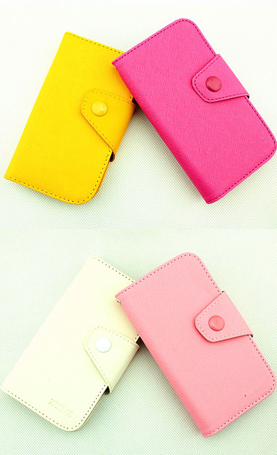 Fancy PU Leather Wallet Case Cover With Magnetic flap closure Diary for Samsung Galaxy Mini S5570 Smart Mobile Phones