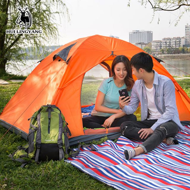 brand new 57756 5abd2 US $30.98 |TN6 Couple 2 person double layer camping tents portable picnic  used tents for sale-in Tents from Sports & Entertainment on Aliexpress.com  | ...