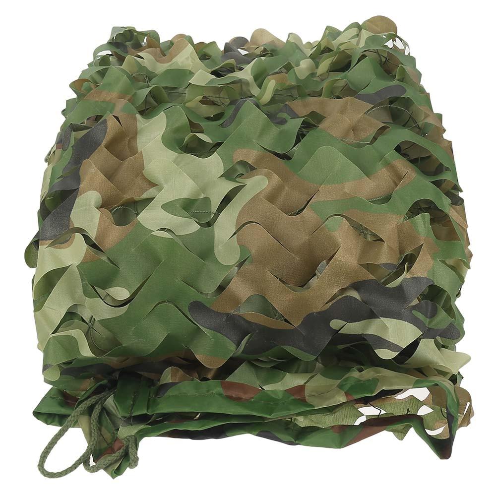 Hight Quality 5M x 1 5M Woodland Camouflage Net Sun Shelter Leaves shade net Camouflage Net
