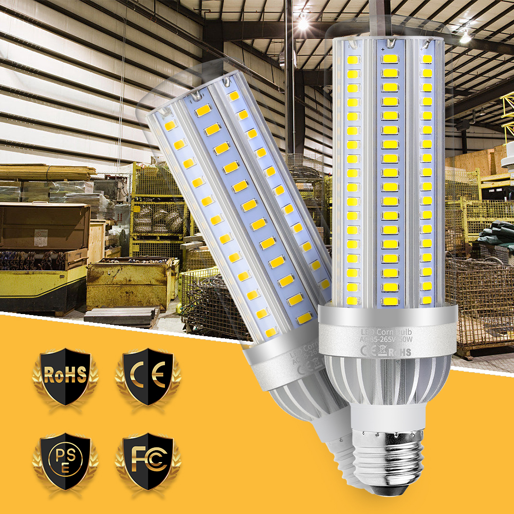 High Power LED Lamp Corn Light Bulb 220V 25W 35W 50W 110V Lamp E26 bombillas led E27 Aluminum Fan Cooling 5730 Lighting Smart IC