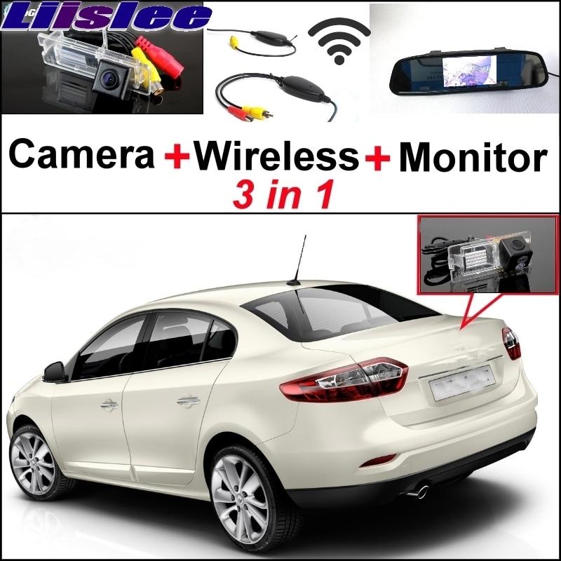 Liislee 3 в 1 специальная камера + беспроводной приемник + зеркало монитор DIY и система парковки для Рено Флюенс 2009~2017