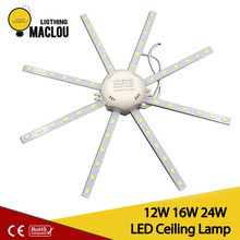 24 Leds 5730 SMD LED Ceiling Lamp Cold White High Bright 12W 16W 24W Board LED Octopus Round Ampoule LED Light Lamparas De Techo(China)