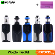 Clearance Original Wotofo 200W Flux Box Mod Vape Kit With Flow Pro Subtank Power By Dual 186500 Battery Electronic Cigarette Kit(China)