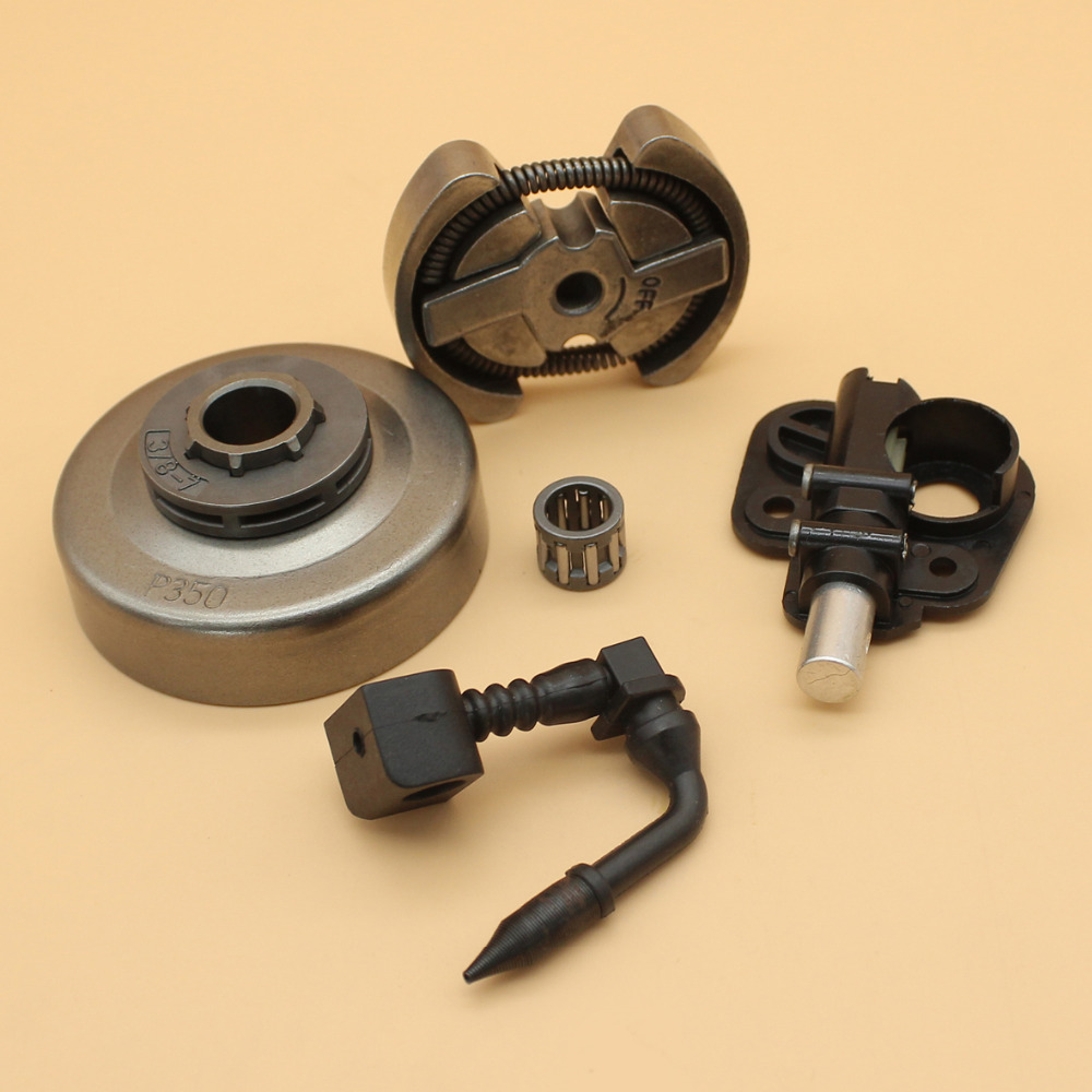 3/8 7T Clutch Drum Sprocket Rim Bearing & Oil Pump Assembly Fit PARTNER 350 351 Chainsaw Replacement Parts sprocket rim drum