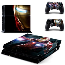 Vinyl Skin Iron Man Decal PS4 Console and 2 Controllers Sticker for Playstation 4 Controller Skins Cover