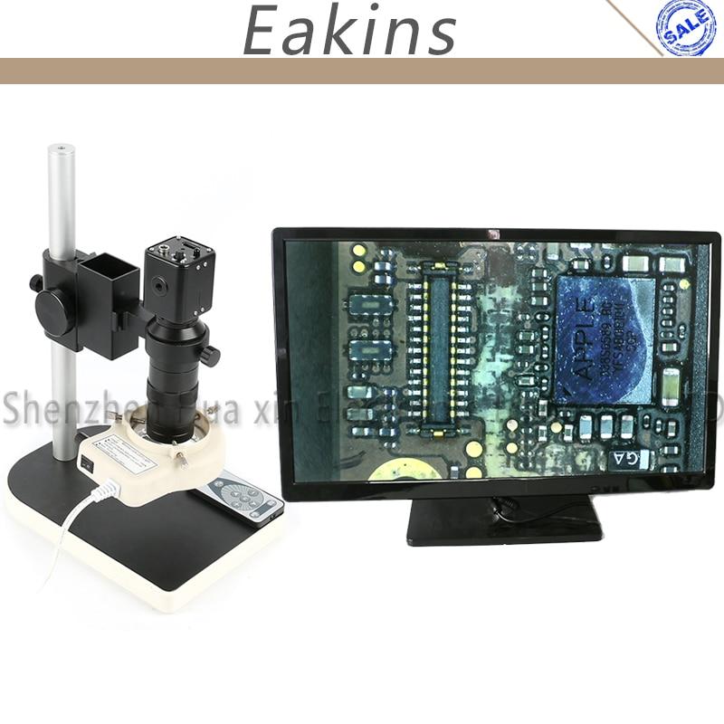 1080 P микроскоп ИК пульт дистанционного управления HDMI промышленный микроскоп камера набор + 130X c-крепление объектива + подставка для лаборато...