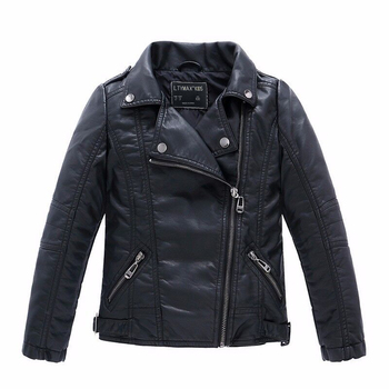 Brand Fashion Children Outerwear Coat Waterproof Baby Boys and Girls Leather Jackets For Age 1-14 Years Old Outwear & Coats