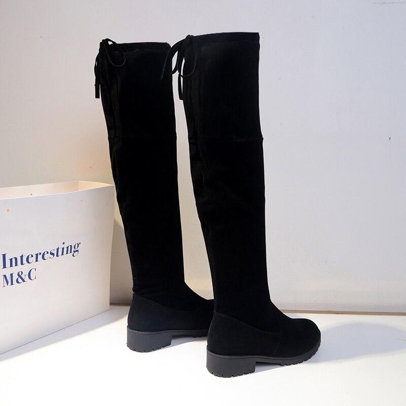 De Sólido Planos Martin Mujer Nuevo Botas Invierno Moda S21 2019 Para Boca Zapatos Salvaje Baja Cálido Black Color Sw1vWgPgxq