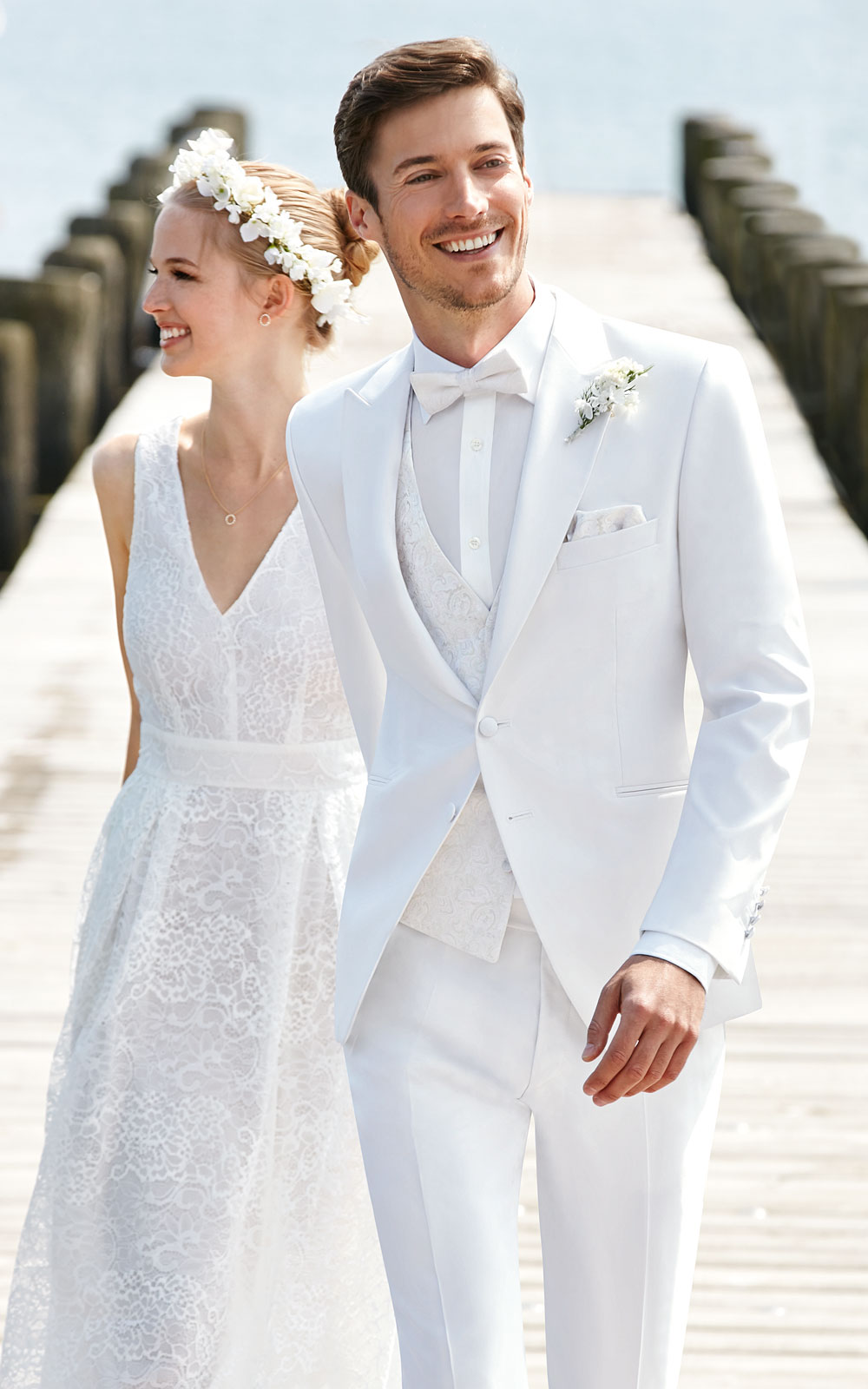 Aliexpress.com : Buy Tailor Made White Wedding Suits For Men Slim ...