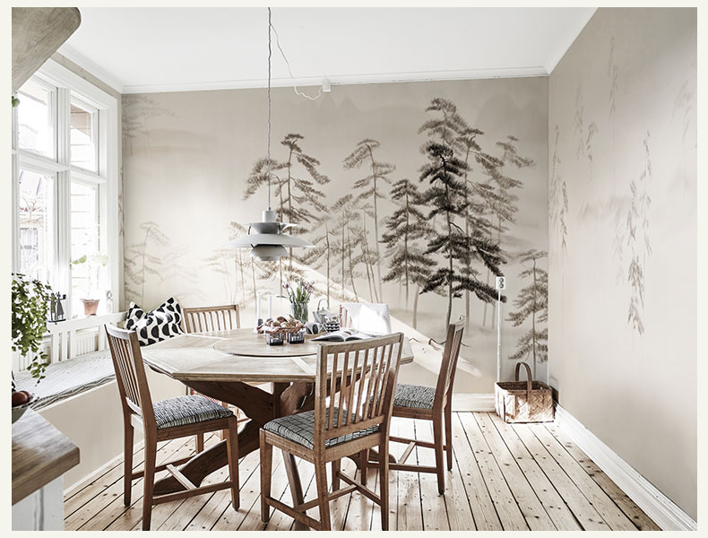 Bacaz Painted Snow Trees Large 3d Papel Mural 3d Wallpaper Murals for Dinning Sofa Room Background 3d Wall Mural 3d Wall sticker