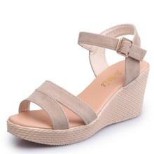 Summer 2018 new wedge sandals womens shoes summer platform spring thick bottom Harajuku wind buckle belt
