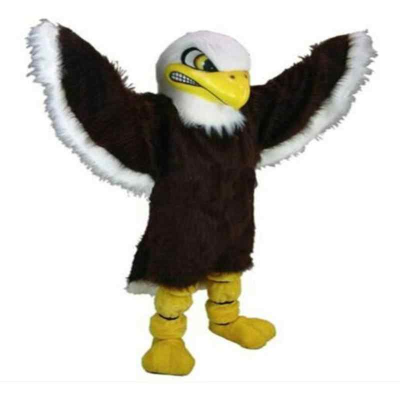 Nieuwe Volwassen Baldy De Eagle Professionele Verjaardagsfeestje Cartoon Mascotte Kostuum Kerst Fancy Dress Halloween Mascotte Kostuum