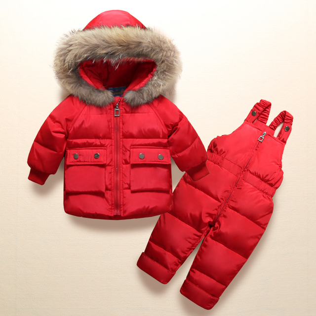 2019 Winter Children Clothing Sets Girls Warm Duck Down Jacket for Baby Girl Clothes Children's Coat for Boy Snow Wear Kids Suit