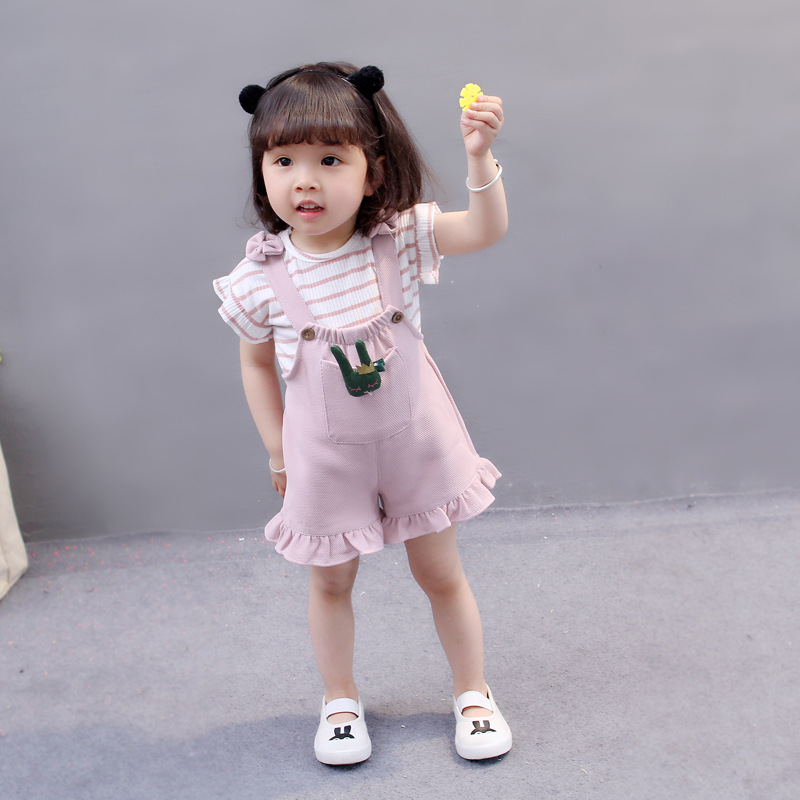 Child Ladies Garments Youngsters Garments Units Youngsters Swimsuit 2018 Summer season Youngsters Cotton Striped Tops+Braces 2Pcs Trend Ladies Clothes Units Clothes Units, Low cost Clothes Units, Child Ladies Garments...