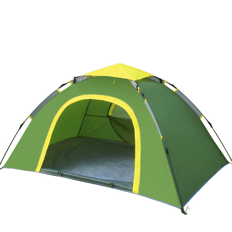 Wnnideo 2 Person Portable Outdoor Folding Tent Waterproof Fiberglass For Outdoor Camping  Hiking Folding Tent Double-Person Camp two person tent outdoor camping tent kit fiberglass pole water resistance with carry bag for hiking traveling 200x120x110cm