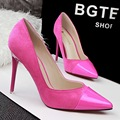 Spring Summer European Style Classic Pumps Shallow Pointed Toe Thin Heels Shoes Sexy Heeled Single Shoes Women's Shoes G2586
