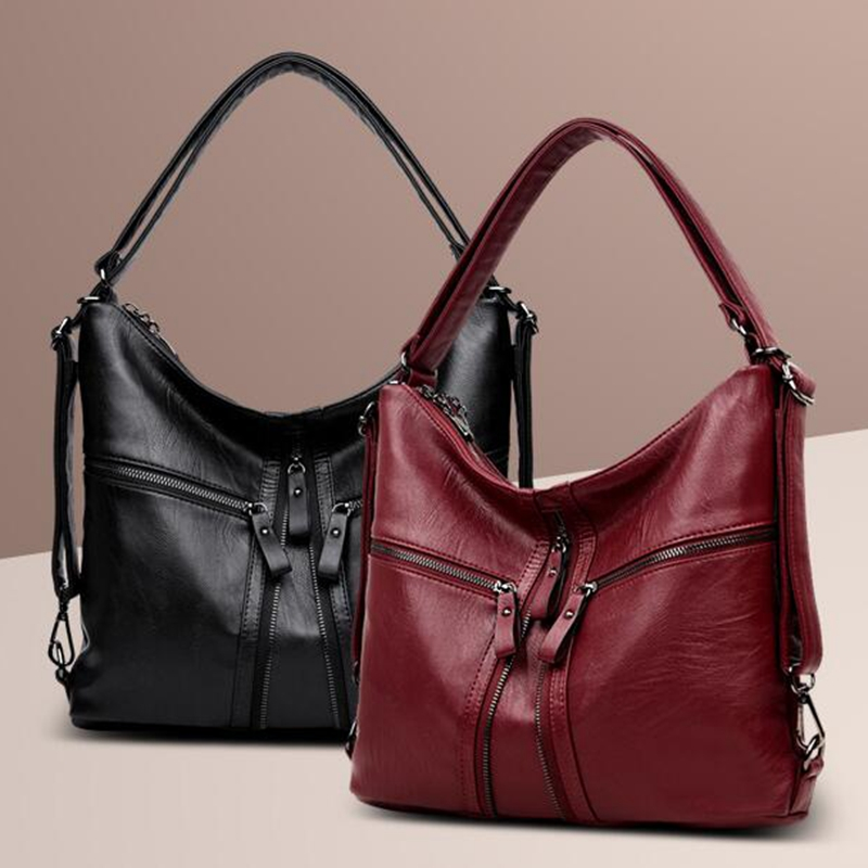 Women's Leather Handbags Big Size Luxury Women Shoulder Bag Multifunction Women Back Pack Tote Bags LL517