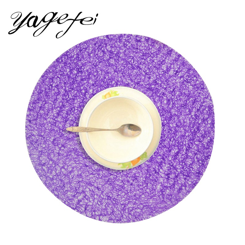 1PCS Eco-friendly Round Table Mat Fashion Home Kitchen Dining Table Pad Coffe Tea Bowl Pad Non-Slip Coasters Table Accessories