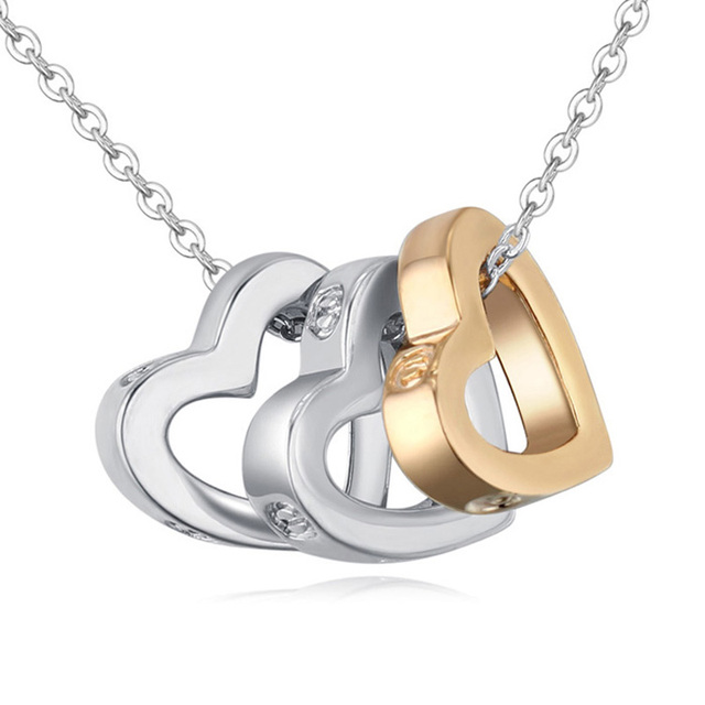 2df36828d6 3 Heart Women Men Chain Necklace Couples Jewelry Birthday Gifts For  Boyfriend And Girlfriend Valentine Day