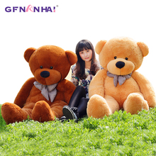 140CM to 200CM cheap giant unstuffed empty teddy bear bearskin coat soft big skin shell Semi-finished plush toys soft kid doll