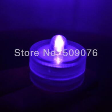 24 шт./лот 8 видов цветов беспламенный свечах привело свечи водонепроницаемый светодиодные свечи для свадьбы - Цвет: purple