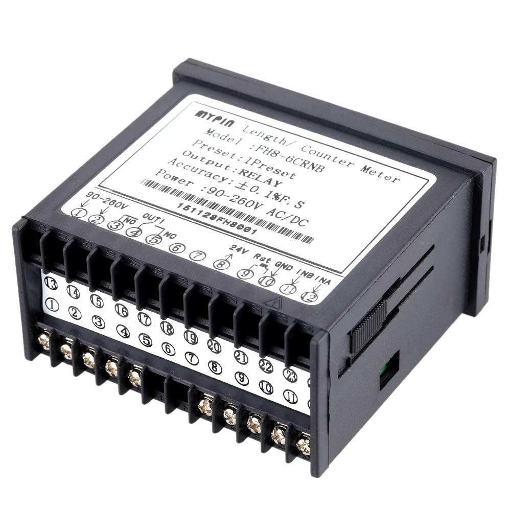 Digital Counter Mini Length Batch Meter 1 Preset Relay Output Count