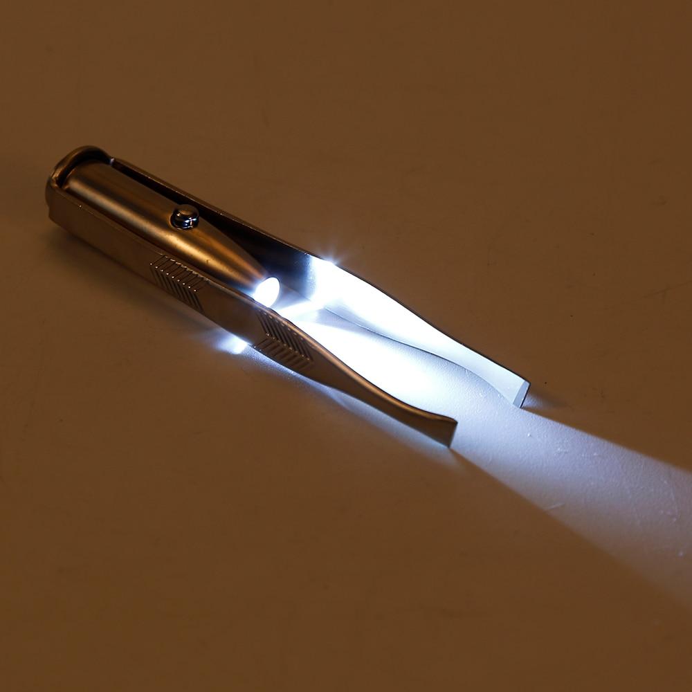 Нержавеющаясталь светодиодные бровей клип пинцет Светодиодное освещение ресниц клип высокое качество Макияж инструмента Волосы на лице ... ...