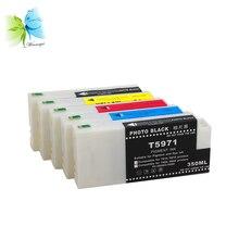 Winnerjet 350ml Compatible ink cartridge for Epson Stylus Pro 7700 9700 Printer Cartridge Full With dye ink все цены