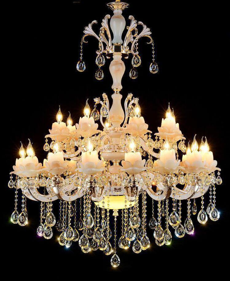 Spanish parlor grand stone chandelier lighting deluxe marble hotel spanish parlor grand stone chandelier lighting deluxe marble hotel villa high chandelier crystal pendant d12mh15m pendientes in chandeliers from lights mozeypictures Choice Image