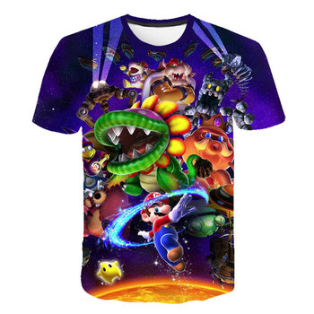 Kids 3D Mario Luigi Print T-shirts Costume Boys Girls Summer Tees Top Clothing Children  Clothes  Casual Tshirts 1