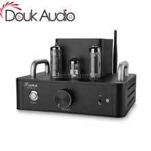 Douk audio hi fi 6p14 (el84) 진공관 증폭기 bluetooth 단일 종단 클래스 a 스테레오 전력 증폭기 4 w * 2
