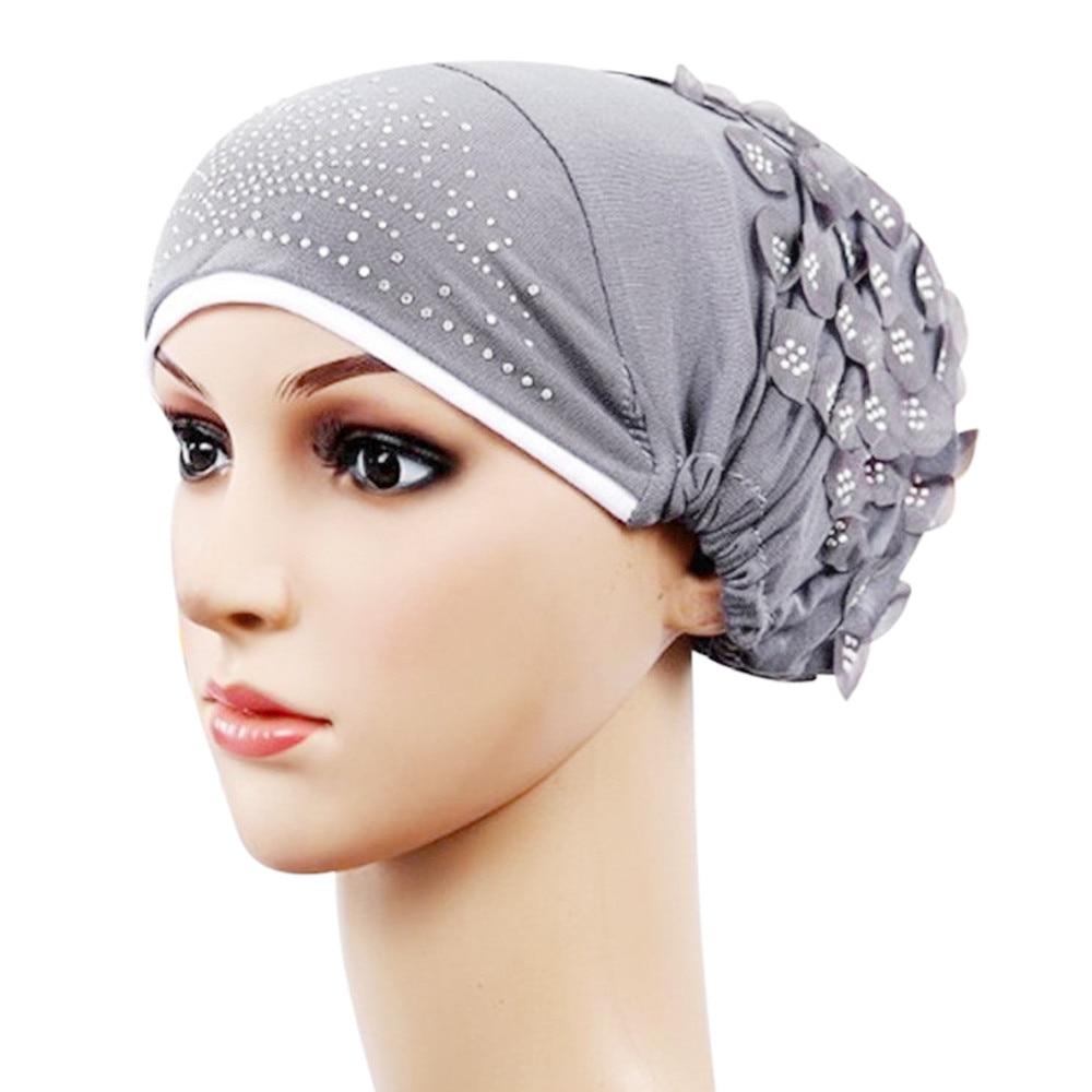 b3ffb9758f522 Women Muslim Stretch Turban Hat Chemo Cap Hair Loss Head Scarf Wrap Hijib  Cap