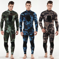3mm Scuba Diving Suit SCR Neoprene Camouflage Long Sleeves Piece Wetsuit Surfing Clothes For Male Size S XXXL