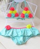 Bloemen Leuke Kids Baby Meisje Bikini Sets Swimwear Badpakken Peuter Zwemmen Kostuum Kids Twee stukken Strand Biquini