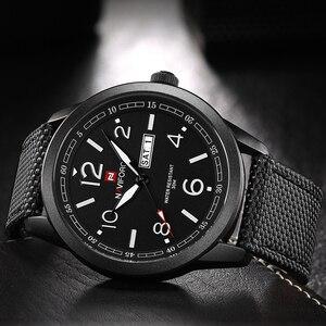 Image 3 - 새로운 naviforce 시계 패션 남자 톱 브랜드 럭셔리 망 나일론 스트랩 손목 시계 남자 쿼츠 스포츠 시계 relogio masculino