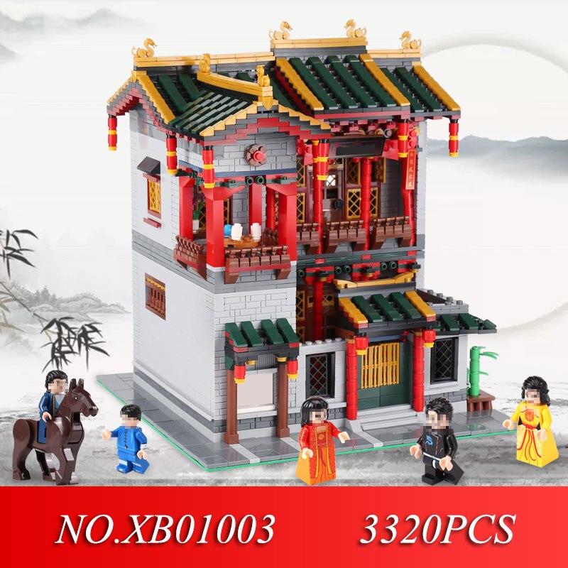 XINGBAO 01003 3320 Stücke Kreative MOC Serie Der Yi hong hof Set Kinder Educational Building Blocks Spielzeug Modell Geschenke-in Sperren aus Spielzeug und Hobbys bei  Gruppe 1