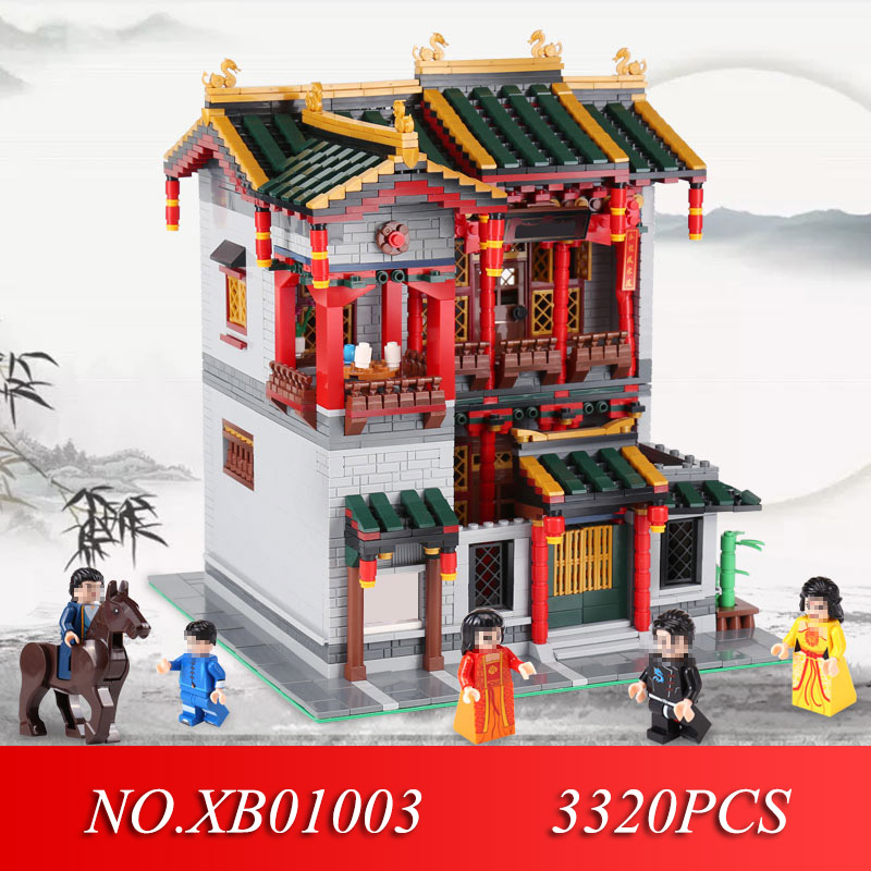 XINGBAO 01003 3320Pcs Creative MOC Series The Yi-hong courtyard Set Children Educational Building Blocks Toys Model GiftsXINGBAO 01003 3320Pcs Creative MOC Series The Yi-hong courtyard Set Children Educational Building Blocks Toys Model Gifts