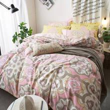 boho bedding set 45pcs bohemia romantic pink duvet cover pillowcase full queen size wedding bedspreads 400tc girls adult decor