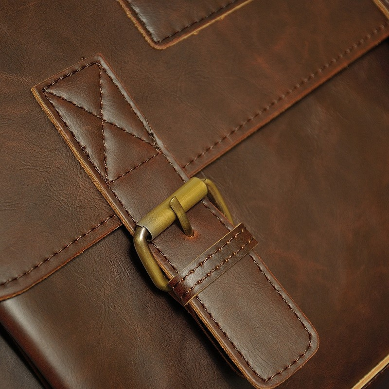 Vintage Men Business Real Genuine Leather Briefcase Travel Causal Shoulder Messenger Portfolio Laptop Bags Lawer Handbag Bolsa (13)