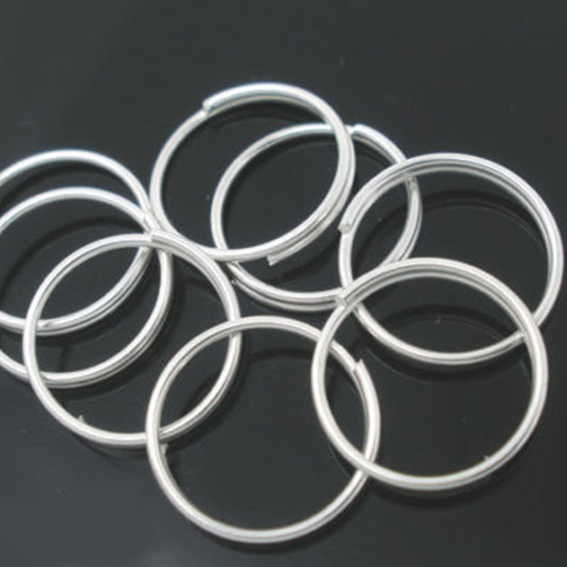 500Pcs Round Double Loops Open Split Jump Rings DIY Jewelry Making 10mm, Silver Plated/Silver Tone