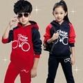 Ropa para niños set kids sport suit niños ropa niñas ropa sistema del muchacho trajes trajes de invierno para los muchachos niños otoño chándal conjuntos