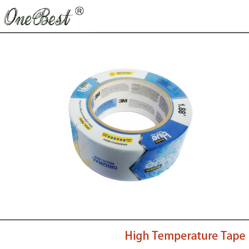 2017 Hot 3M2090 Blue textured paper high temperature tape 54.8mx48mmx0.13mm 3D printer Heating plate special Free shipping free shipping wholesale retail aurora blue high temperature tape textured paper tape printer 3d heating plate special